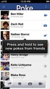Facebook iOS App - Poke 傳送限時銷毀訊息