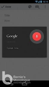 Google Keep 雲端筆記本, 記錄靈機一觸一瞬間!