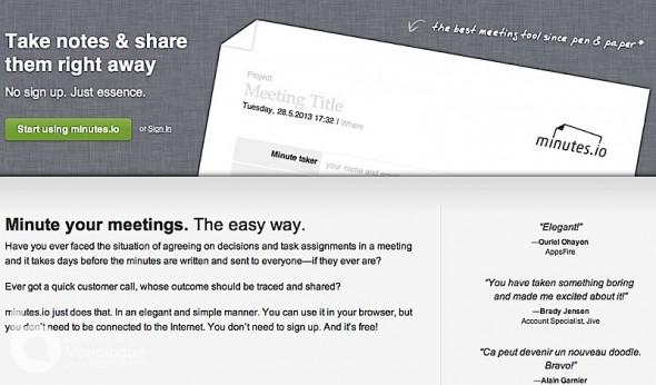 最怕開會太多行動太少, minutes.io 行動派會議記錄!