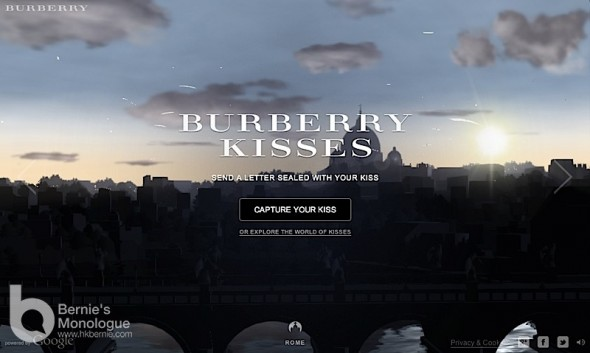 Email 電郵處處吻 Burberry Kisses (Burberry x Google Chrome)