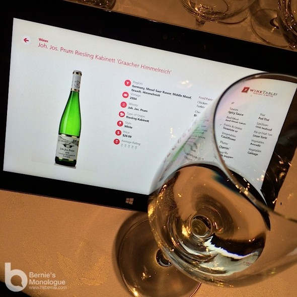 識少少扮品酒專家 美食名酒配 (Microsoft Surface Pro 2 品酒派對)